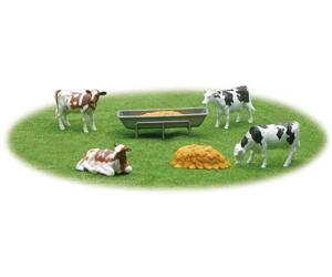 Pack 4 vacas y comederos New Ray 05515