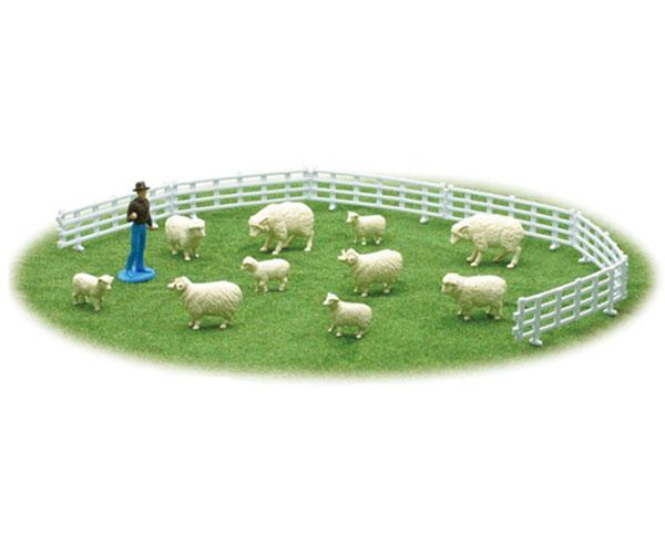 Pack pastor, carnero, ovejas, corderos y vallado New Ray 05515