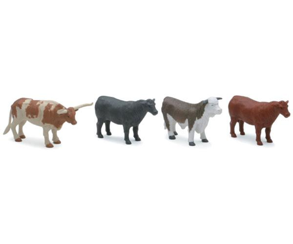 Pack toros y vacas (4 unidades) New Ray 05526