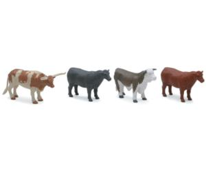 Pack toros y vacas (4 unidades) New Ray 05526