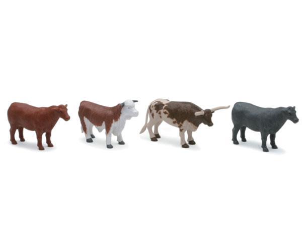 Pack toros y vacas (4 unidades) New Ray 05526b