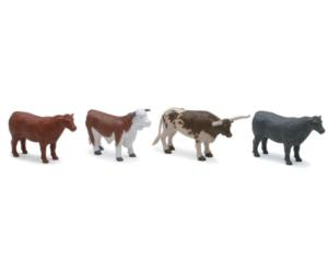 Pack toros y vacas (4 unidades) New Ray 05526b