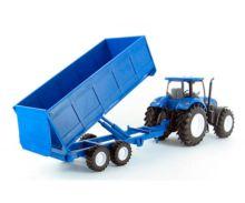 Pack miniatura tractor NEW HOLLAND con remolque y granjero - Ítem1
