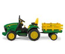 Tractor infantil de batería JOHN DEERE con remolque Peg-Perego OR0047 - Ítem1