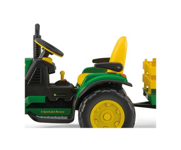 Tractor infantil de batería JOHN DEERE con remolque Peg-Perego OR0047 - Ítem2
