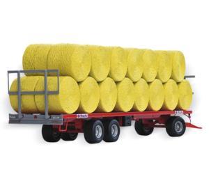 Réplica remolque MAUPU transporte pacas cilíndricas