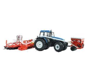 Replica sembradora KUHN BFT 4000 con grada rotativa HR 4000 y tolva TF1500