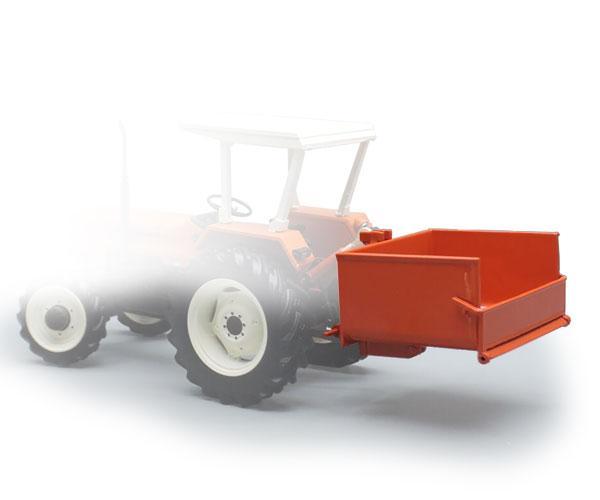 Miniatura caja transporte tractor naranja Replicagri REP140 - Ítem1