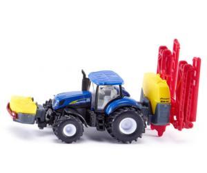 Miniatura tractor NEW HOLLAND con pulverizador KVERNELAND Siku 01799