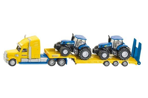 Miniatura camion LKW con tractores NEW HOLLAND T7070