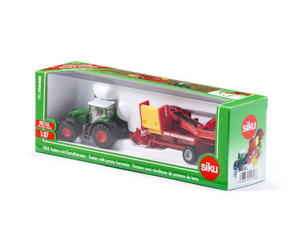 Miniatura tractor FENDT con cosechadora GRIMME Siku 1808 - Ítem1