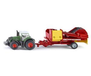 Miniatura tractor FENDT con cosechadora GRIMME Siku 1808