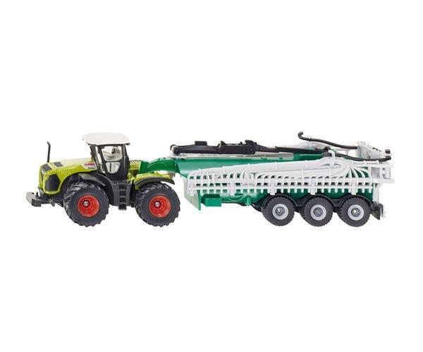 Miniatura tractor CLAAS Xerion con remolque Samson