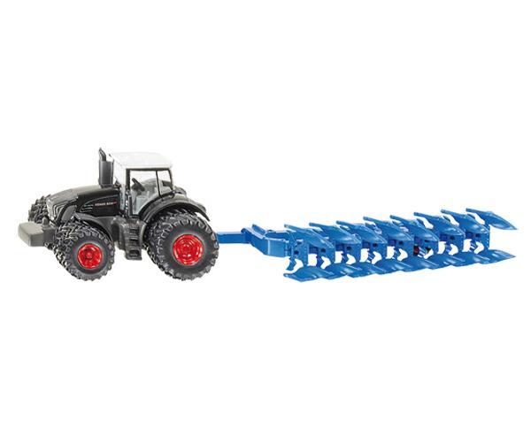 Miniatura tractor FENDT 939 con arado LEMKEN VariDiamant 10