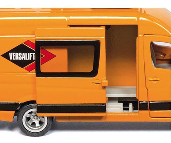 Miniatura furgoneta MERCEDES BENZ con plataforma elevadora - Ítem1