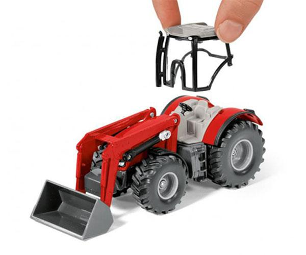 Miniatura tractor MASSEY FERGUSON con remolque POTTINGER Siku 1987 - Ítem3