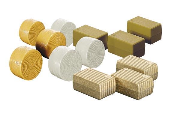 pack de 6 pacas rectangulares y 6 pacas cilindricas