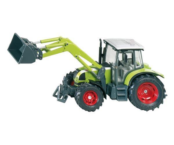 Miniatura tractor CLAAS Ares 697 ATZ con pala