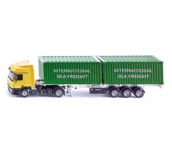 Miniatura camión MERCEDES BENZ LKW transporte contenedores Siku 3921