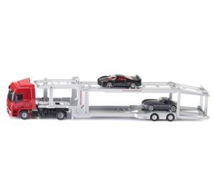 Miniatura camión MERCEDES BENZ transporte de coches Siku 3934