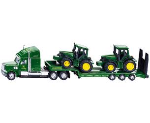 Miniatura camión con góndola y tractores JOHN DEERE