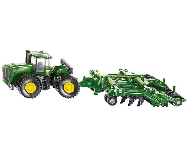 Miniatura tractor JOHN DEERE con multilabor Amazone