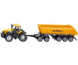 Miniatura tractor JCB 8250 con remolque Half-TRAXX