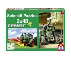 SCHMIDT Puzzles tractor FENDT 415V y tractor FENDT 211V