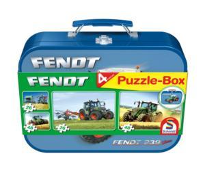 SCHMIDT Caja metálica con 4 puzzles tractor FENDT 939 Vario