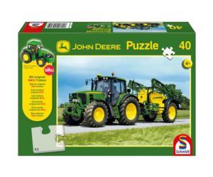 SCHMIDT Puzzle tractor JOHN DEERE 6630 con pulverizador JOHN DEERE de 40 piezas