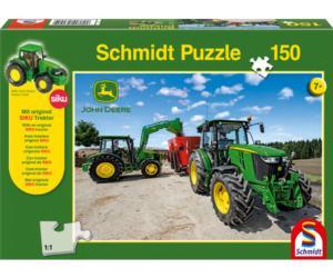 Puzzle tractores JOHN DEERE con unifeed de 150 piezas Schmidt 56045