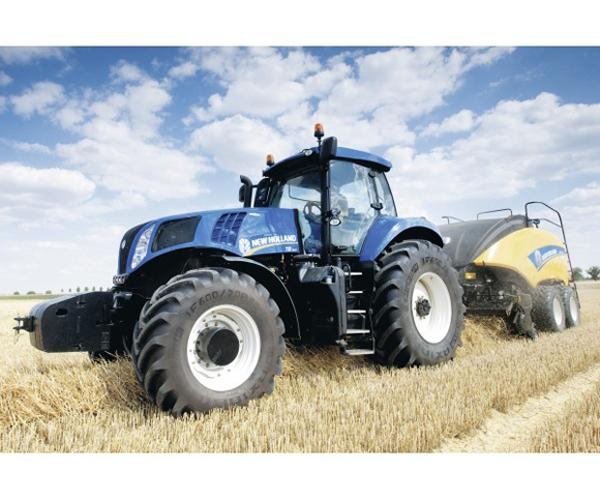 SCHMIDT Puzzle tractor NEW HOLLAND con empacadora NEW HOLLAND 1290 de 100 piezas - Ítem1
