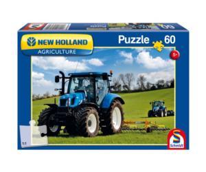 SCHMIDT Puzzle tractor NEW HOLLAND T6AC de 60 piezas