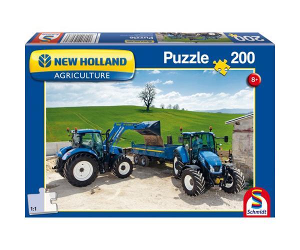 SCHMIDT Puzzle tractor NEW HOLLAND T6AC y tractor NEW HOLLAND T5EC de 200 piezas