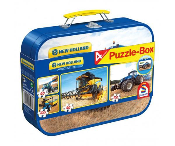 SCHMIDT Caja metálica con 4 puzzles NEW HOLLAND - Ítem5