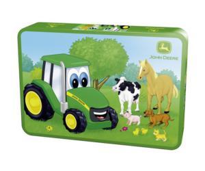 SCHMIDT Puzzle tractor JOHN DEERE con animales de granja de 40 piezas