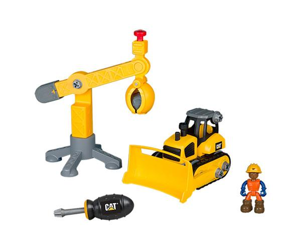 Kit de montaje bulldozer CAT y grúa Toy State 80912 - Ítem