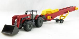SIKU 1:50 Tractor MASSEY FERGUSON con CINTA TRANSPOTADORA