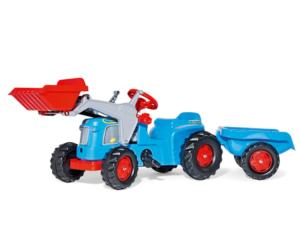 Tractor de pedales KIDDY Classic con pala y remolque
