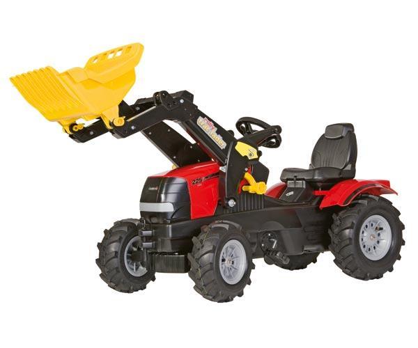 Tractor de pedales CASE IH Puma 225 CVX con pala y neumaticos de goma