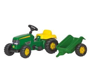 Tractor de pedales JOHN DEERE con remolque