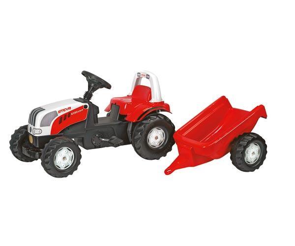 Tractor de pedales STEYR 6190 CVT con remolque