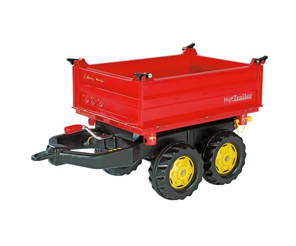 Mega trailer basculante rojo