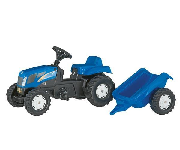 Tractor de pedales NEW HOLLAND TVT 190 con remolque