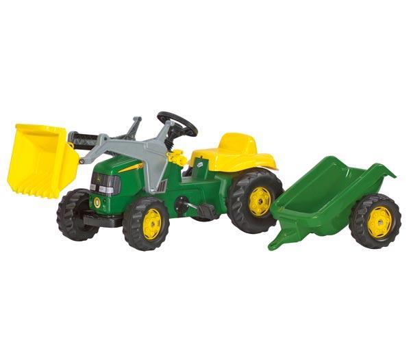 Tractor de pedales JOHN DEERE con pala y remolque