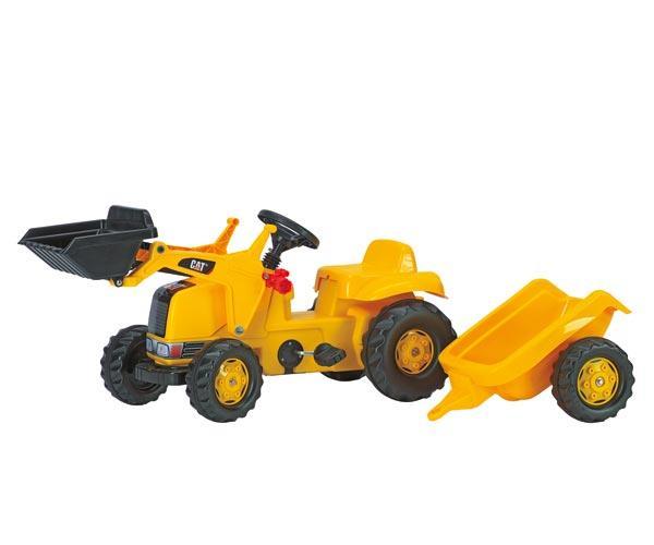 Tractor de pedales CATERPILLAR con pala y remolque
