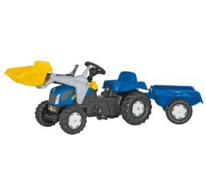 Tractor de pedales NEW HOLLAND TVT 190 con pala y remolque