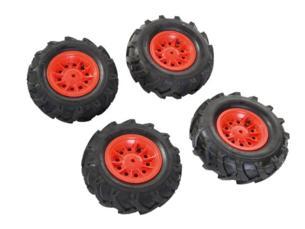 Neumaticos goma llantas rojas para tractores de pedales