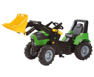 Tractor de pedales DEUTZ-FAHR Agrotron X 720 con pala y neumáticos de goma