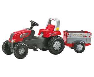 Tractor de pedales ROLLY Junior RT con remolque Farm Trailer